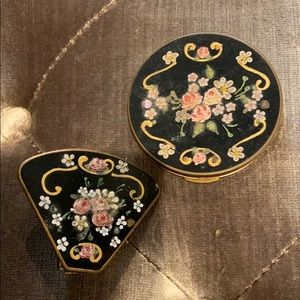Other - Antique Inlayed Compact & Lipstick Holder 1920's